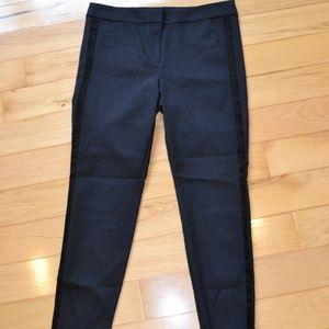 Ann taylor loft  black marisa tuxedo pants 12 new